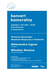 plakat nadesłany przezOrganizatora (Akademię Muzyczna wKrakowie)