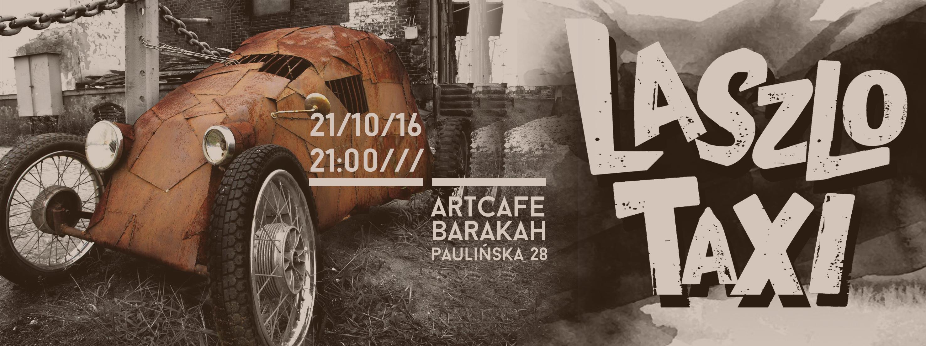 plakat nadesłany przez Organizatora (ArtCafe Barakah)