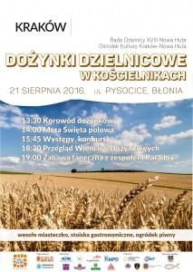 Plakat przesłany przez Organizatora (Ośrodek Kultury Kraków-Nowa Huta)