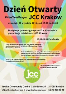 Plakat przesłany przezOrganizatora (Jewish Community Centre)