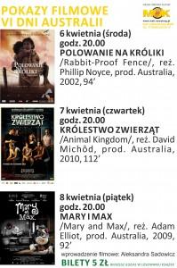 POKAZY FILMOWE AUSTRALIA
