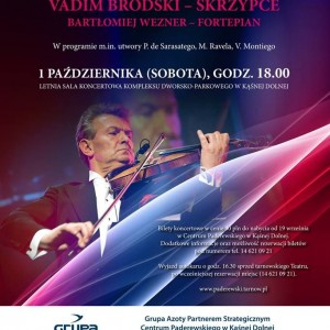 Plakat przesłany przez Organizatora (Centrum Paderewskiego w Kąśnej Dolnej)
