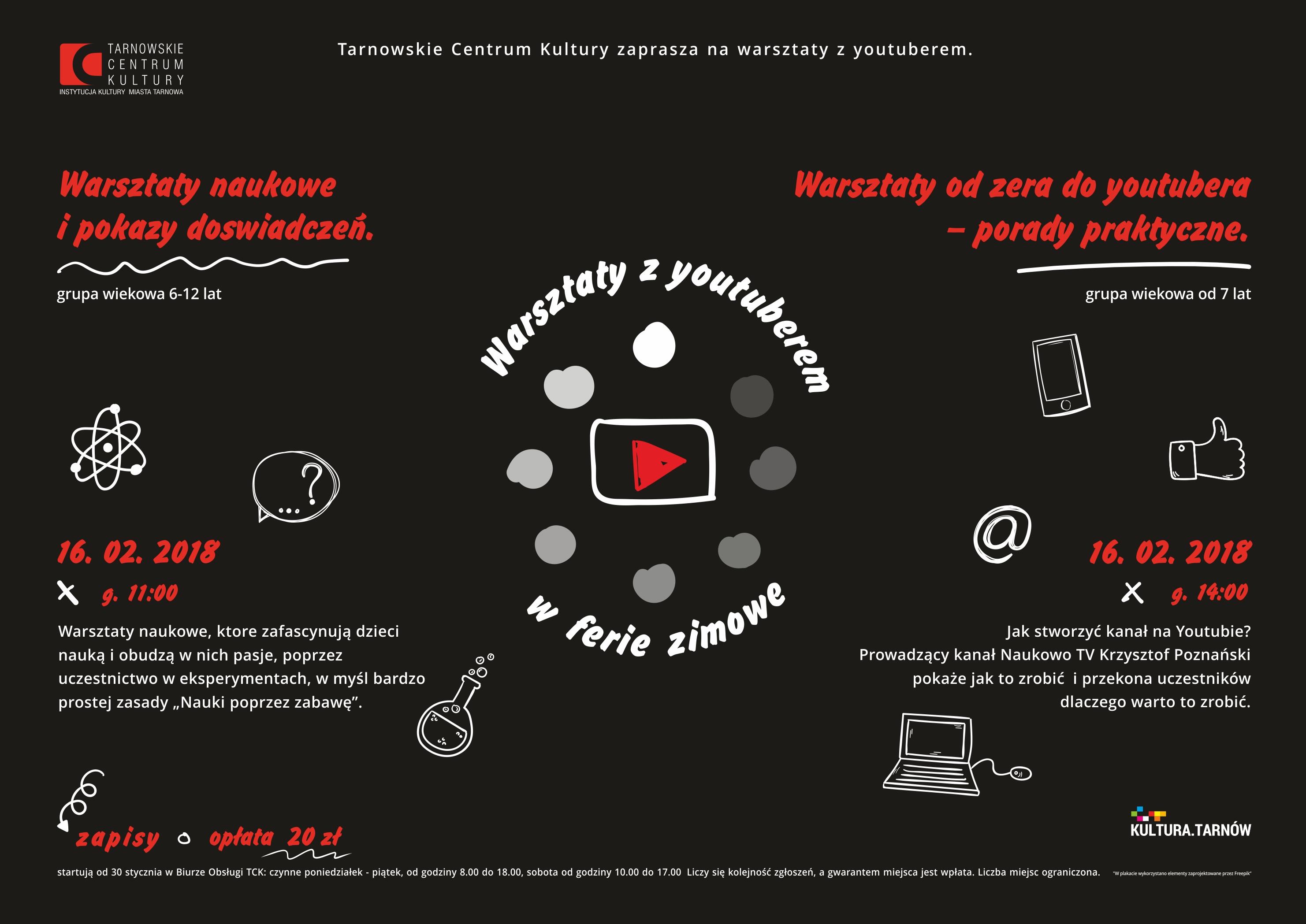 Plakat_warsztaty z youtuberem_www