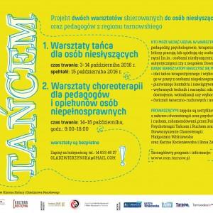 Plakat przesłany przez Organizatora (Centrum Sztuki Mościce).