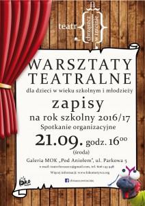Plakat przesłany przezOrganizatora (Teatr Chrząszcz wTrzcinie)