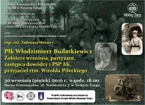 Plakat przesłany przezOrganizatora (Polskie Towarzystwo Historyczne Oddział wNowym Targu)