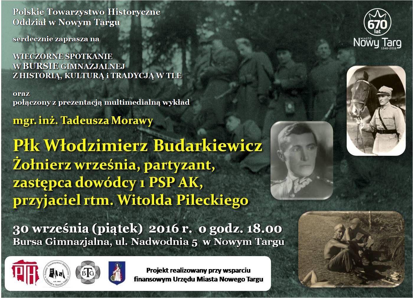 Plakat przesłany przez Organizatora (Polskie Towarzystwo Historyczne Oddział w Nowym Targu)
