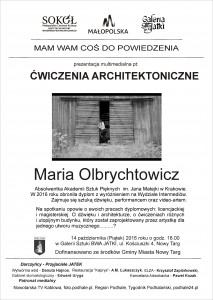 plakat nadesłany przezOrganizatora (Małopolskiego Centrum Kultury SOKÓŁ wNowym Sączu)