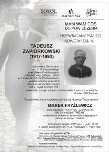 Zaproszenie P.ZAPIÓRKOWSKI