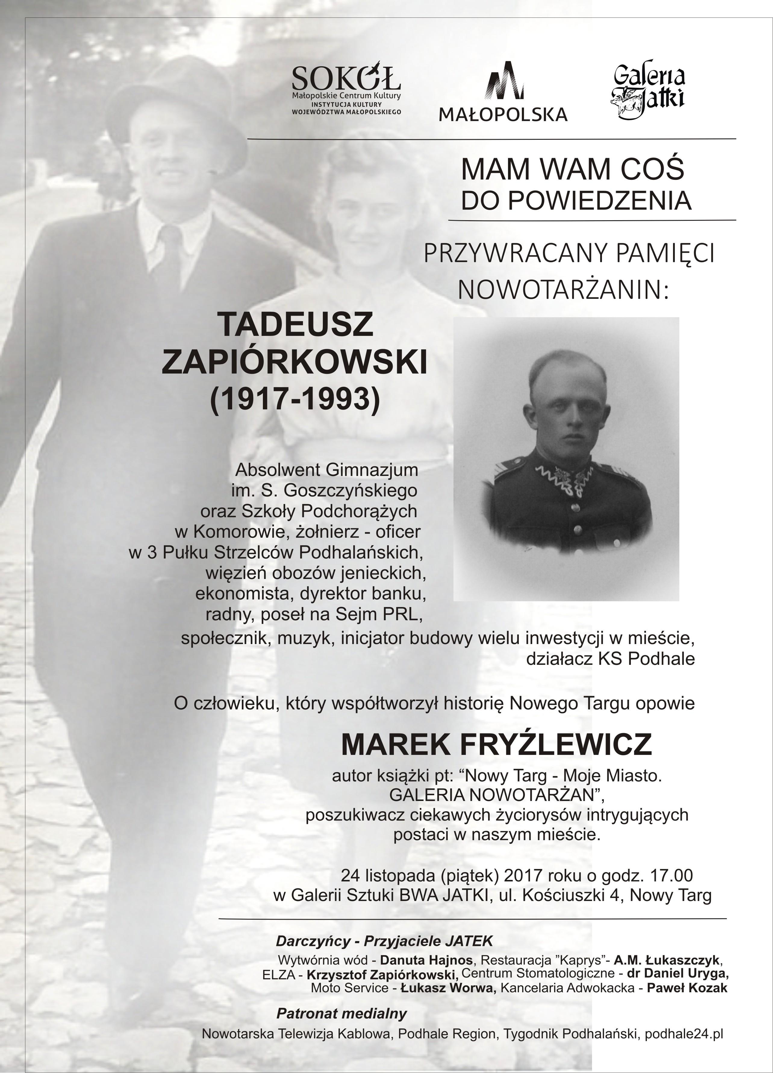 Zaproszenie P. ZAPIÓRKOWSKI