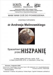 dr. Andrzej Malinowski - Hiszpania