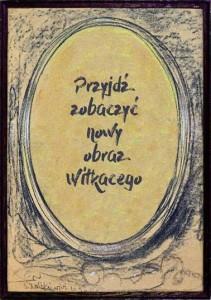Plakat Organizatora (Muzeum Tatrzańskie im.dra Tytusa Chałubińskiego)
