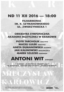 Plakat nadesłany przezOrganizatora ( Akademia Muzyczna wKrakowie)
