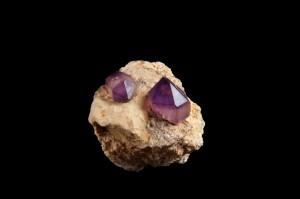kryształy ametystu, Afganistan, zkolekcji M