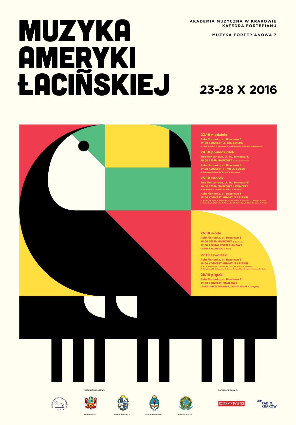 plakat nadesłany przez Organizatora (Akademia Muzyczna w Krakowie)