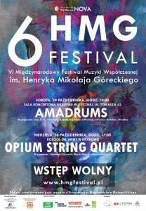 plakat nadesłany przezOrganizatora (Fundację Pro Musica Nova)