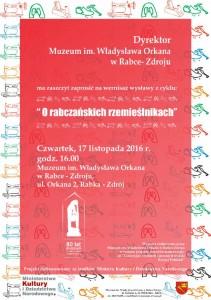 plakat nadesłany przezOrganizatora (Muzeum im.Władysława Orkana wRabce – Zdroju)