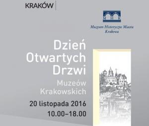 plakat pobrany zestrony Organizatora (Muzeum Historyczne Miasta Krakowa)
