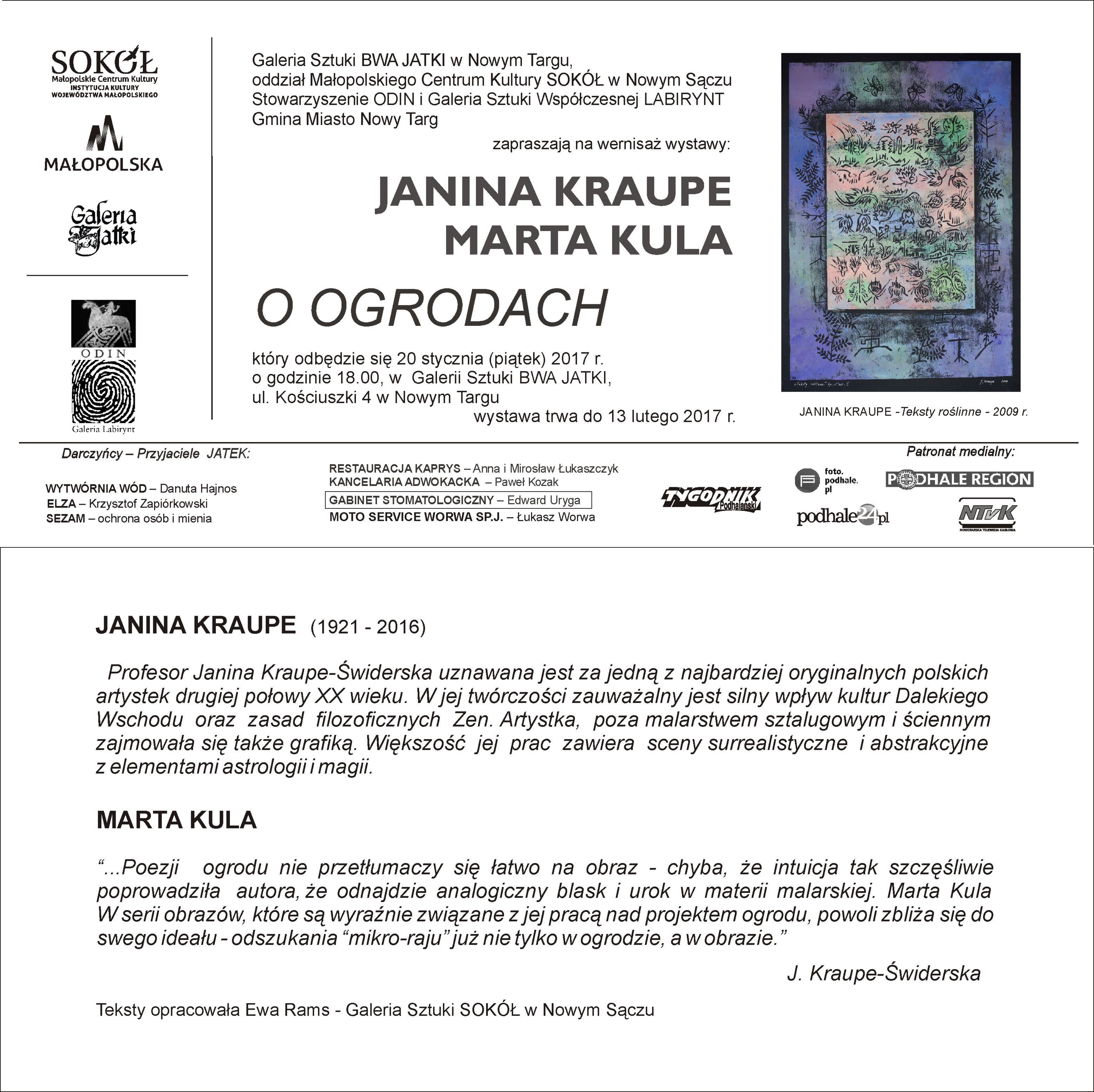 Grafika udostępniona przez: Galerię Sztuki BWA JATKI w Nowym Targu