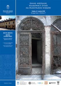 plakat nadesłany przezOrganizatora (Instytut Judaistyki Uniwersytetu Jagiellońskiego)
